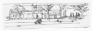 streetscape doodle
